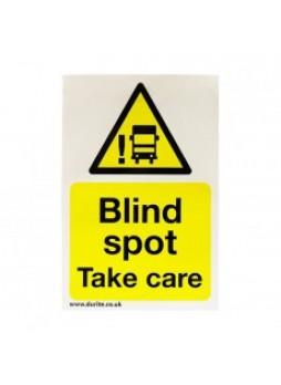 Blind Spot Safety Sign - Portrait