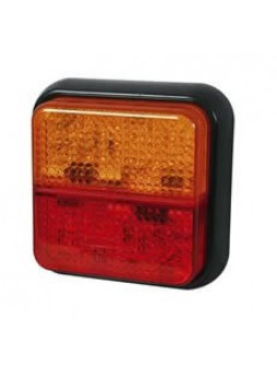 3 Function LED Rear Combination Lamp - Stop/Tail/Direction Indicator - 12/24V