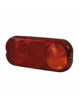 4 Function Rear Combination Lamp - Stop/Tail/Direction Indicator/Reflector - IP67 with Connector