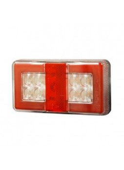 4 Function LED Commercial Rear Combination Lamp - Stop/Tail/DI/Ref - 12/24V