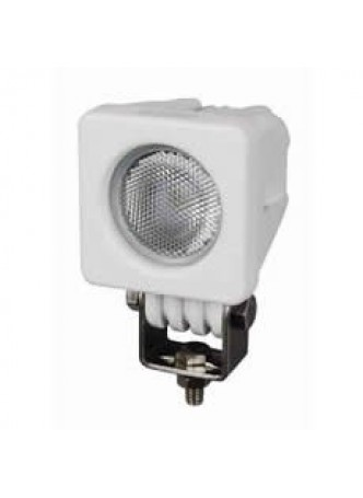 1 x 10W LED Compact Work Lamp with Flying Lead - White, 12/24V