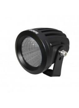 1 x 25W CREE LED Round Work Lamp - Black, 9-36V 1700lm, Ip68