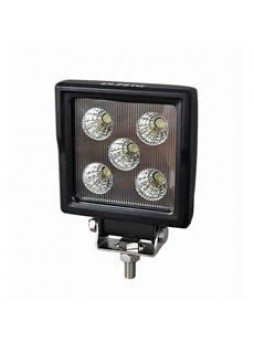 5 x 3W LED Work Lamp with 450mm Flying Lead - Black, 12/24, IP67