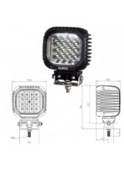 16 x 3W CREE LED Work Lamp - Black, 10-30V 3800lm, IP67