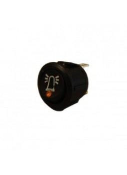 Amber LED On/Off Round Rocker Switch with Beacon Symbol- 12/24V