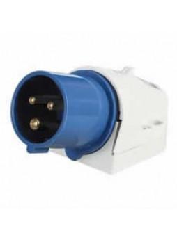 16A 230V Blue Surface-Mounted Plug