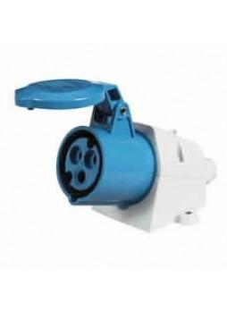 16A 230V Blue Surface-Mounted Socket