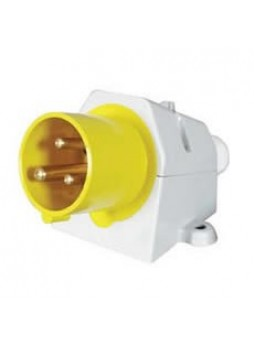 16A 110V Yellow Surface-Mounted Plug