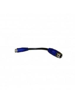 Blue CCTV Adaptor - Push-Fit Camera to Screw-Fit Lead