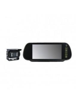 "CCTV TV Kit 7"" Mirror Monitor Colour TFT I/R w/sound 12/24V Bx1"