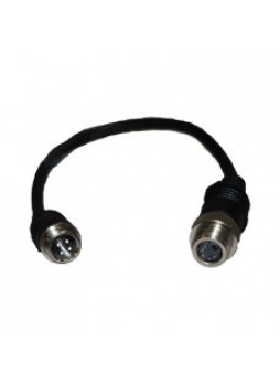 Adaptor 1 Female S Video Screw Connector to Male 4 Pin Screw Connector