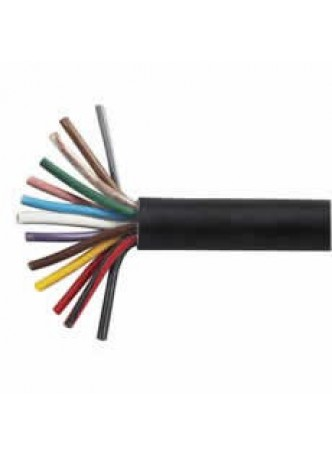 13 Core Thin-Wall PVC Trailer Cable - 8 x 1.5mm² and 5 x 2.5mm², 10m